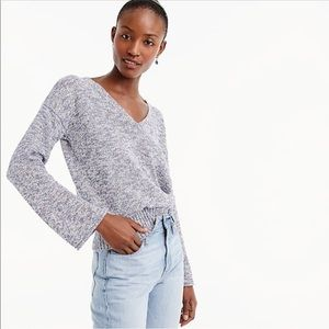 J Crew Flared Sleeve Marled Swing Sweater